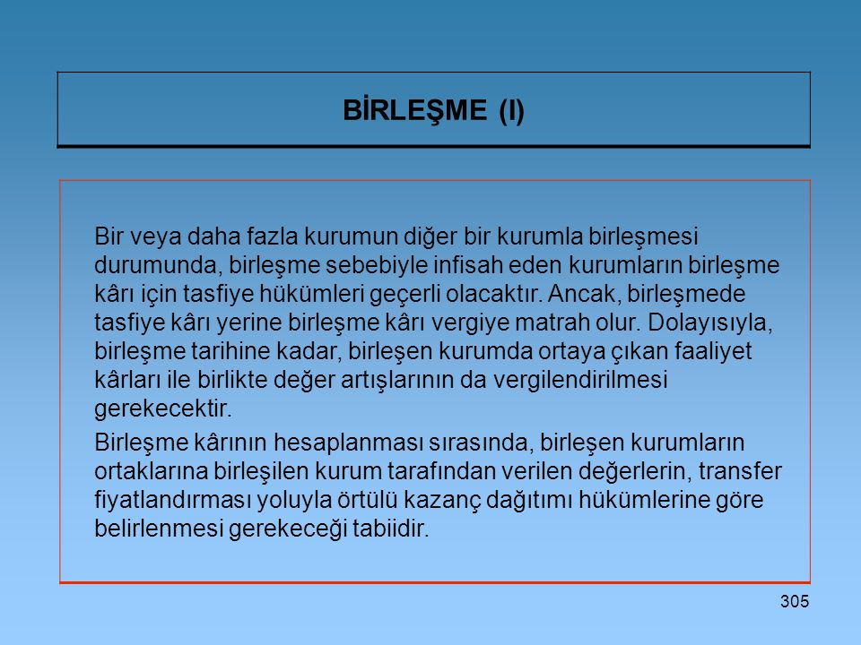 BİRLEŞME (I)