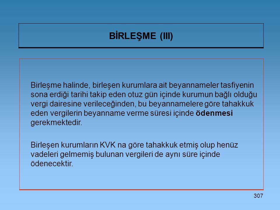 BİRLEŞME (III)