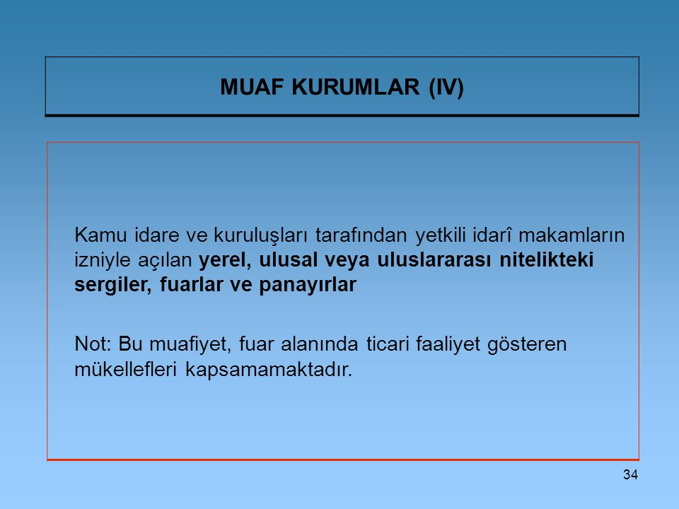 MUAF KURUMLAR (IV)