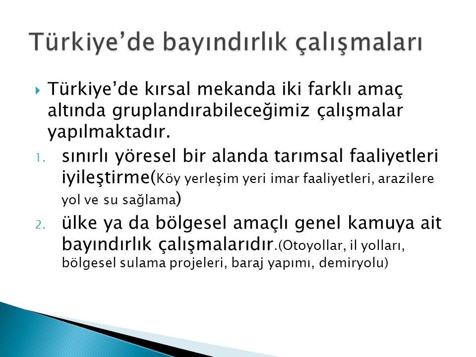 Türkiye'de bayındırlık çalışmaları