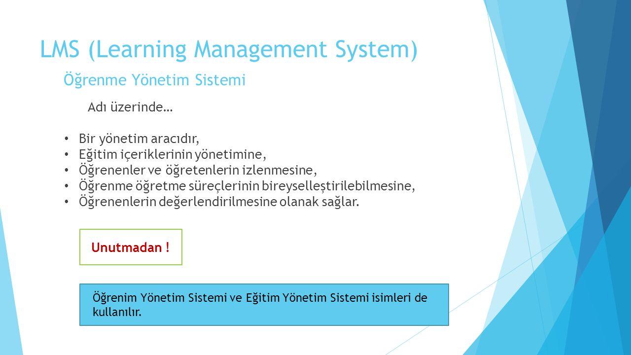 LMS (Learning Management System) Öğrenme Yönetim Sistemi
