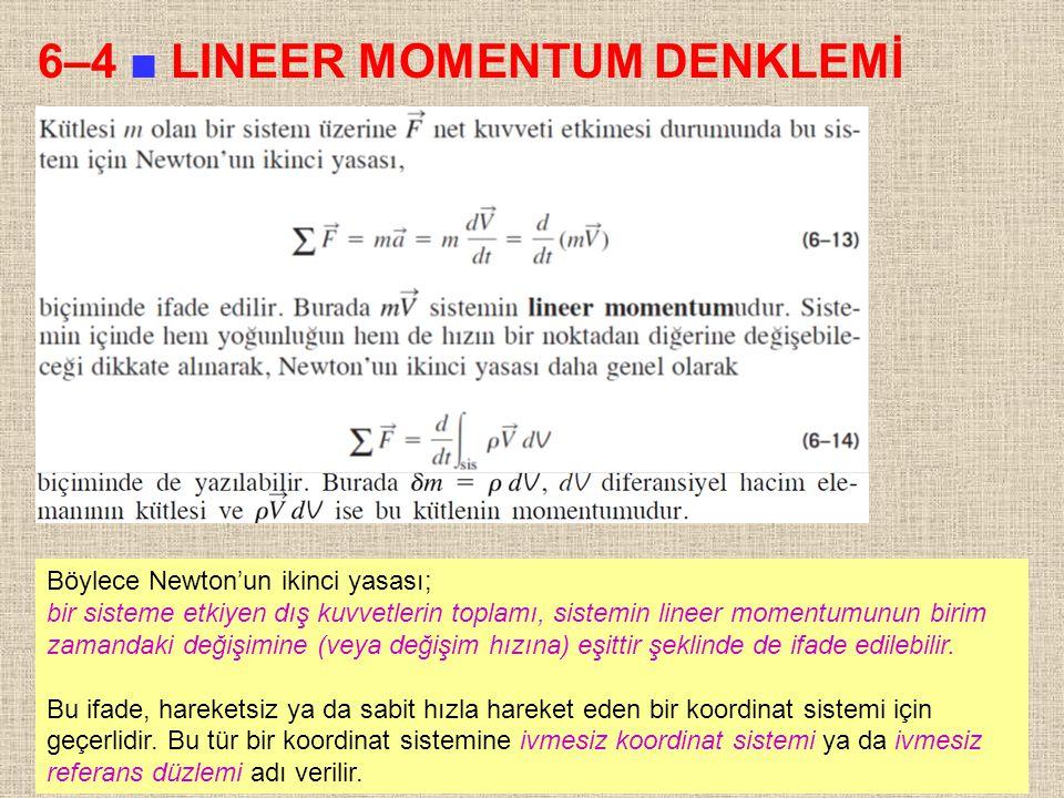 6–4 ■ LINEER MOMENTUM DENKLEMİ
