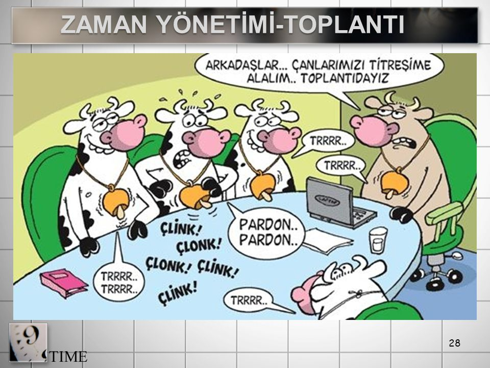 ZAMAN YÖNETİMİ-TOPLANTI
