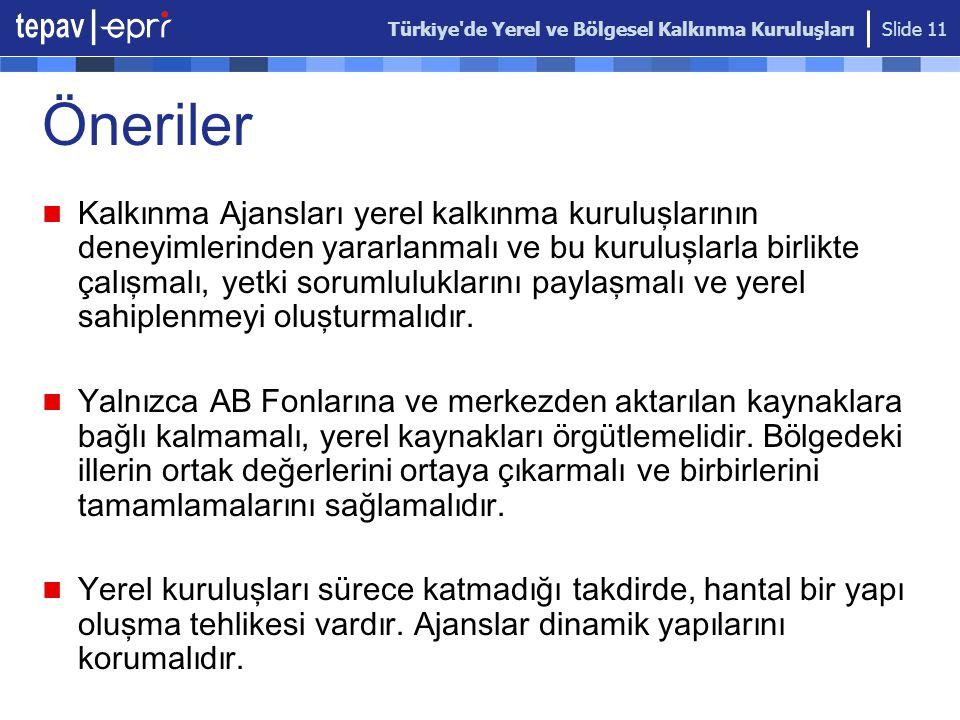 Türkiye de Yerel ve Bölgesel Kalkınma Kuruluşları