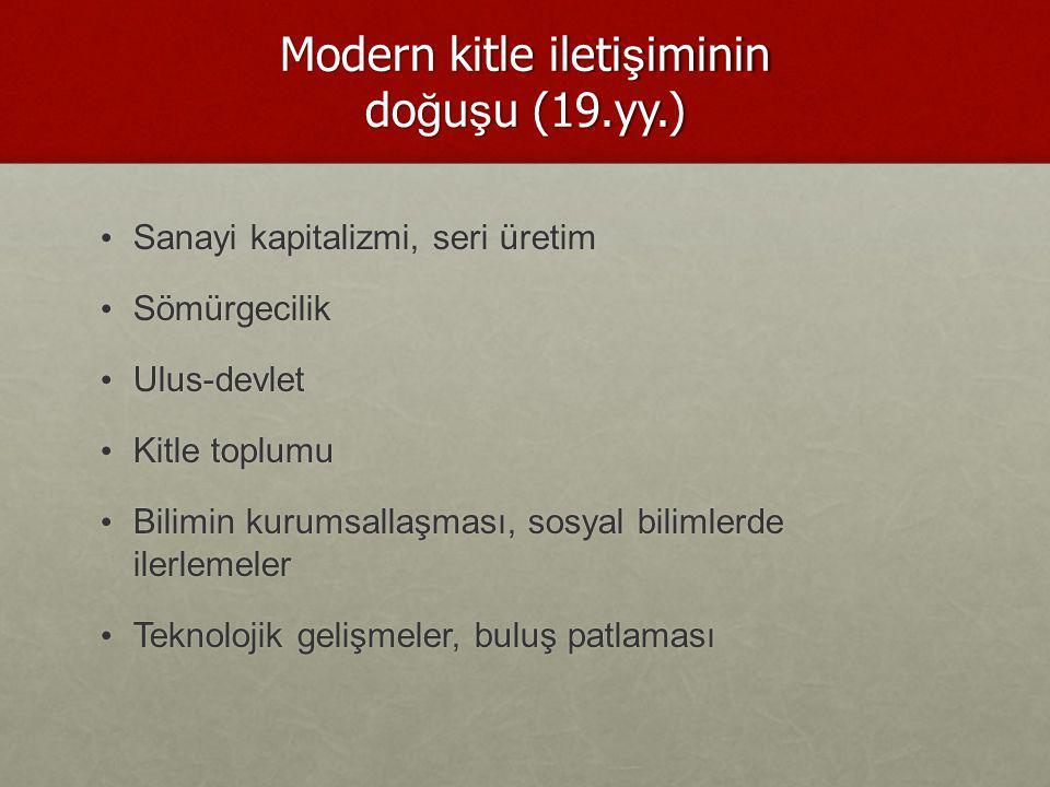 Modern kitle iletişiminin doğuşu (19.yy.)