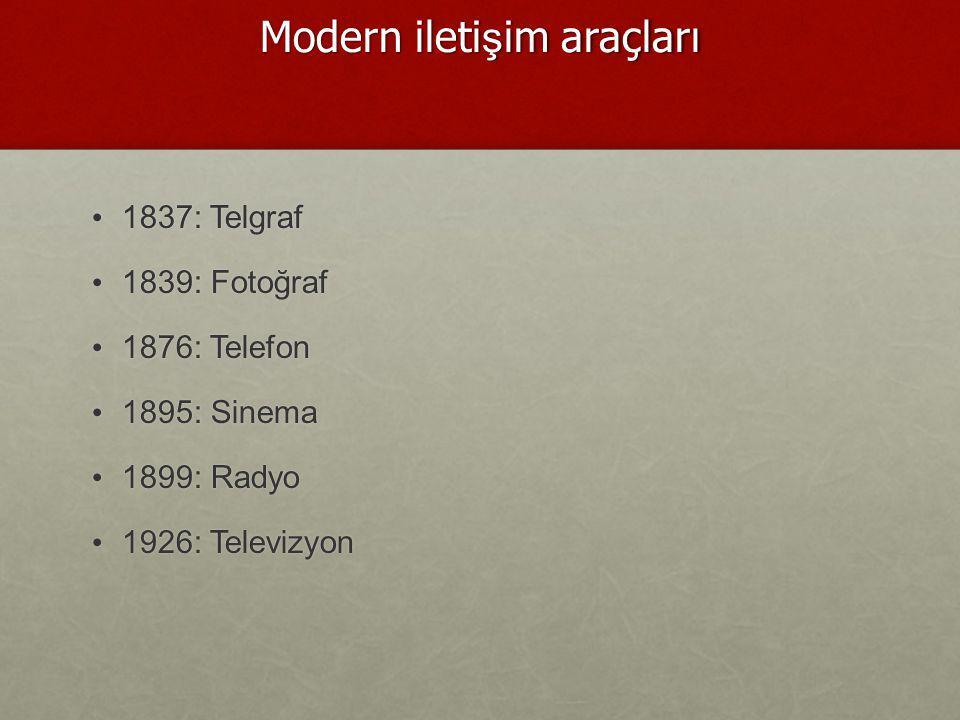 Modern iletişim araçları