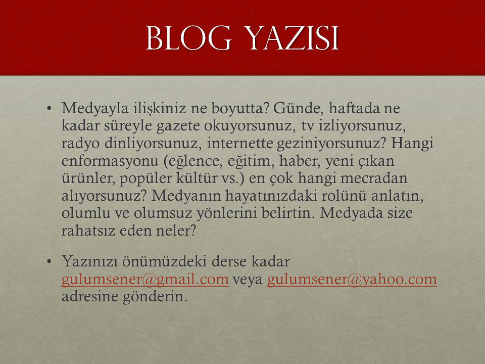 BLOG YAZISI