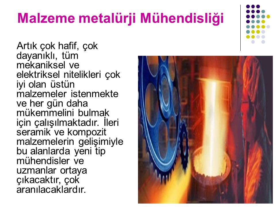 Malzeme metalürji Mühendisliği