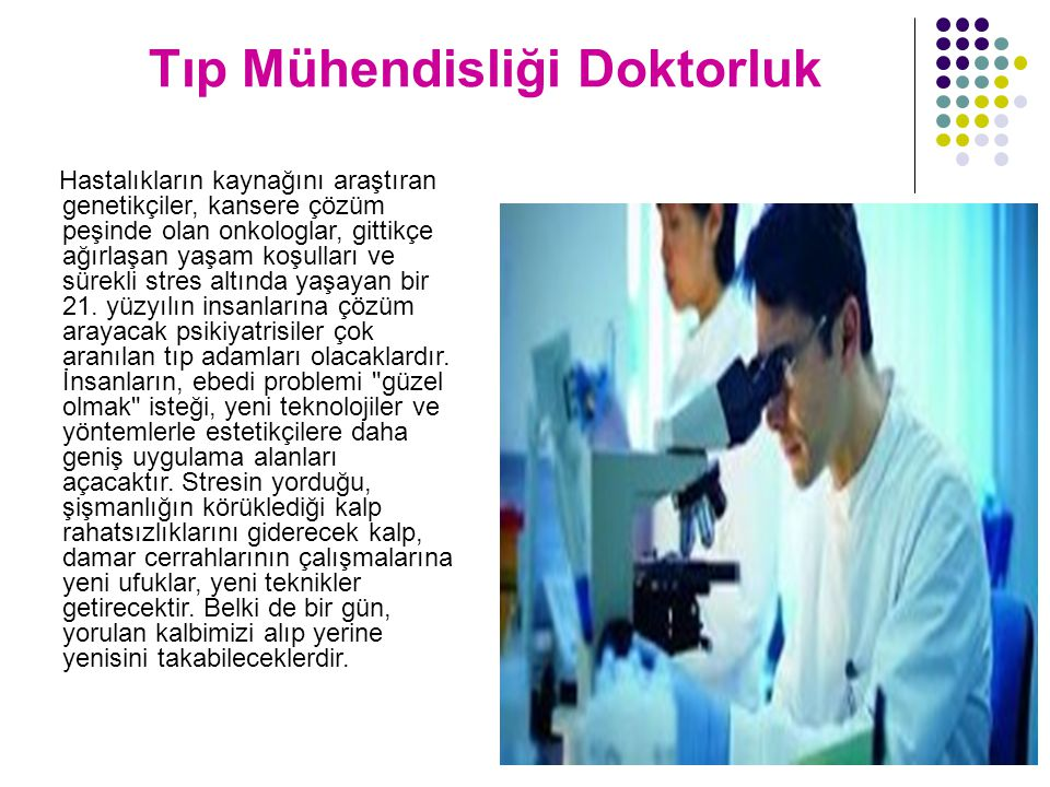 Tıp Mühendisliği Doktorluk