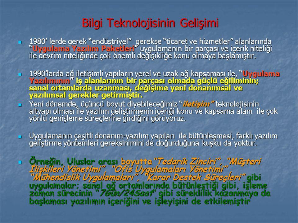 Bilgi Teknolojisinin Gelişimi