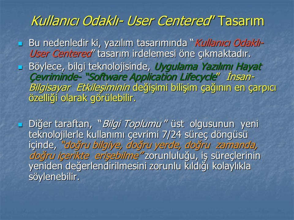 Kullanıcı Odaklı- User Centered Tasarım