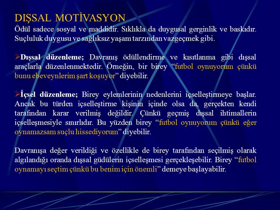 DIŞSAL MOTİVASYON