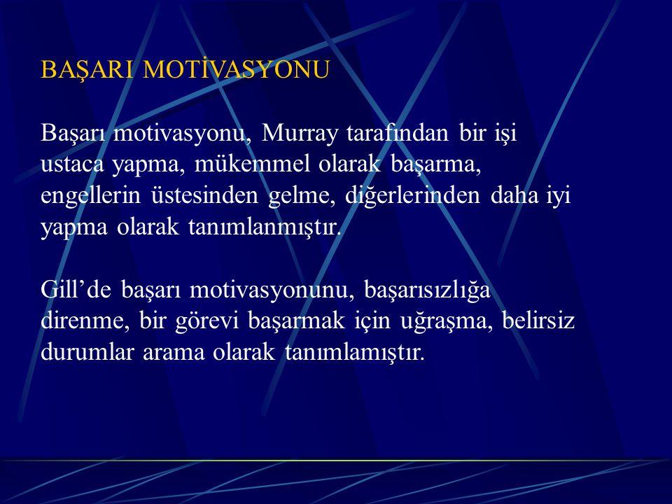 BAŞARI MOTİVASYONU