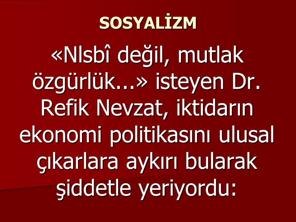 SOSYALİZM