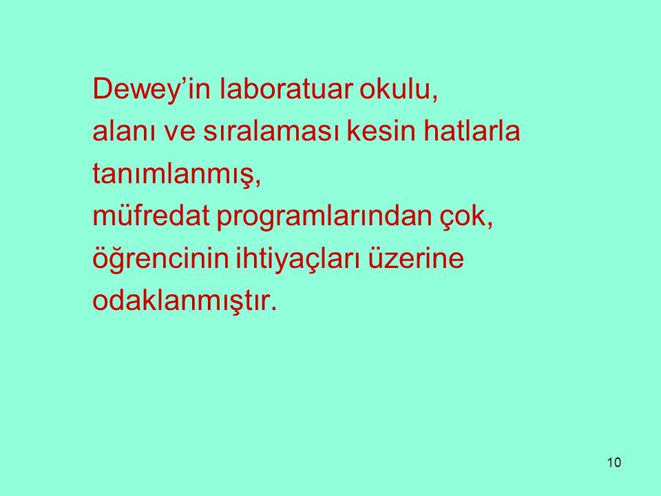 Dewey'in laboratuar okulu,