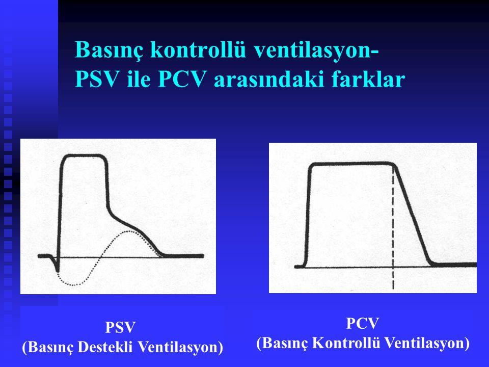 Basınç kontrollü ventilasyon- PSV ile PCV arasındaki farklar