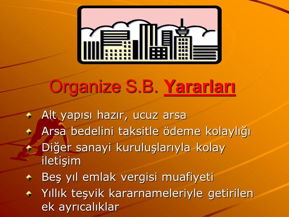 Organize S.B. Yararları Alt yapısı hazır, ucuz arsa