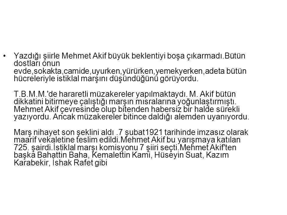 Yazdığı şiirle Mehmet Akif büyük beklentiyi boşa çıkarmadı