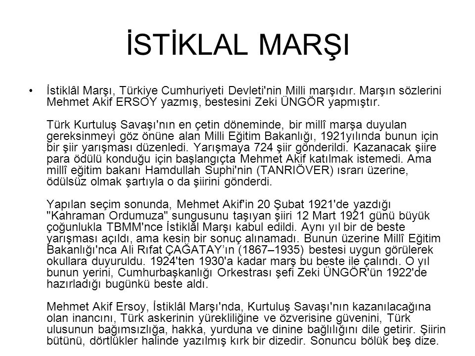 İSTİKLAL MARŞI
