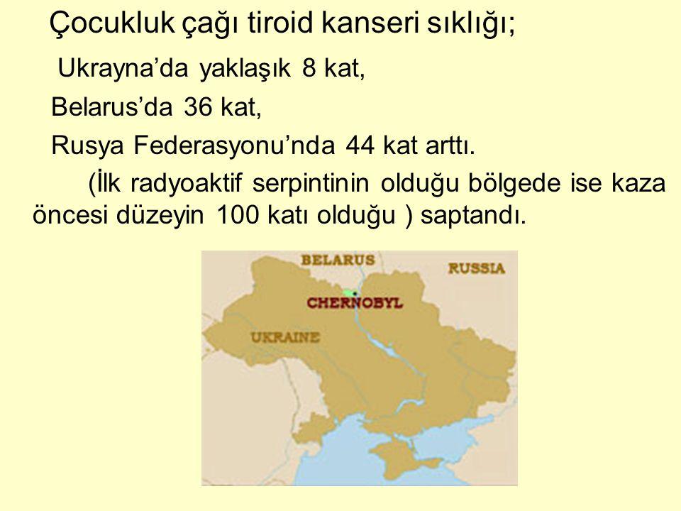Çocukluk çağı tiroid kanseri sıklığı; Ukrayna'da yaklaşık 8 kat,