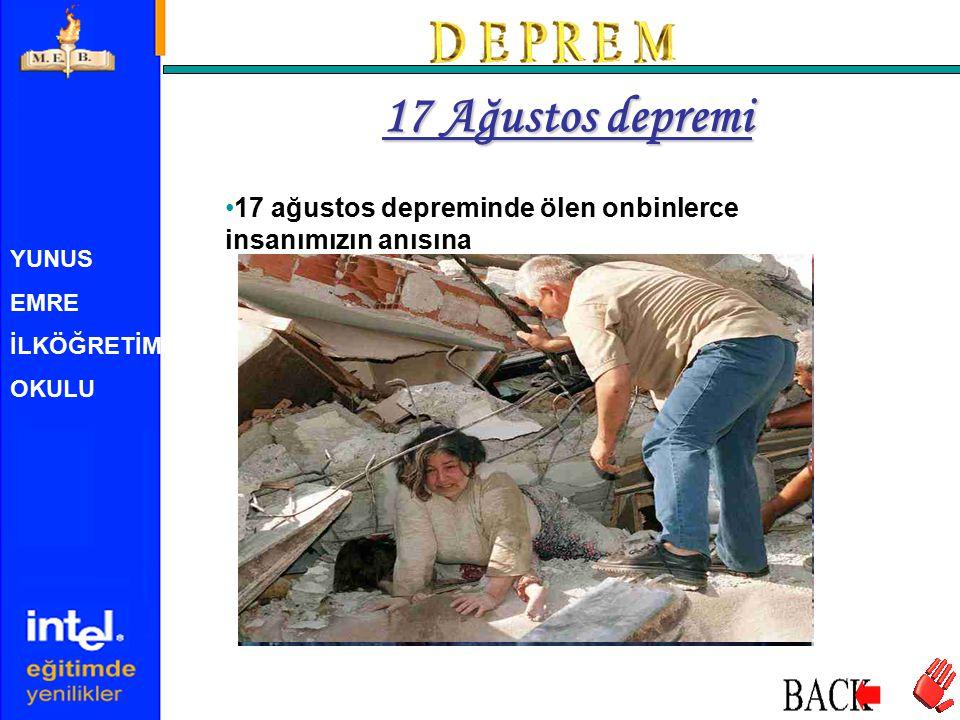 17 Ağustos depremi 17 ağustos depreminde ölen onbinlerce