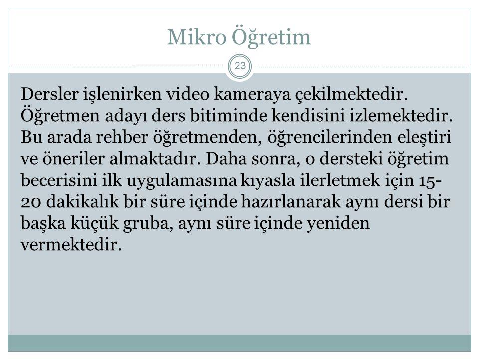 Mikro Öğretim