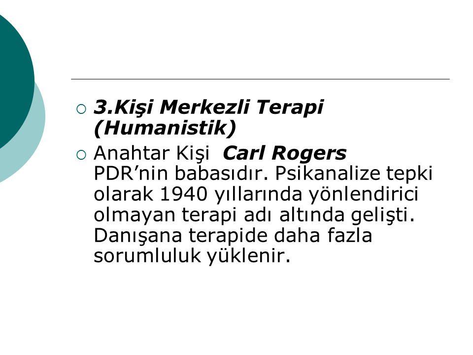 3.Kişi Merkezli Terapi (Humanistik)