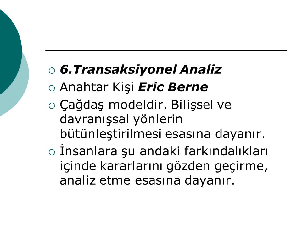 6.Transaksiyonel Analiz