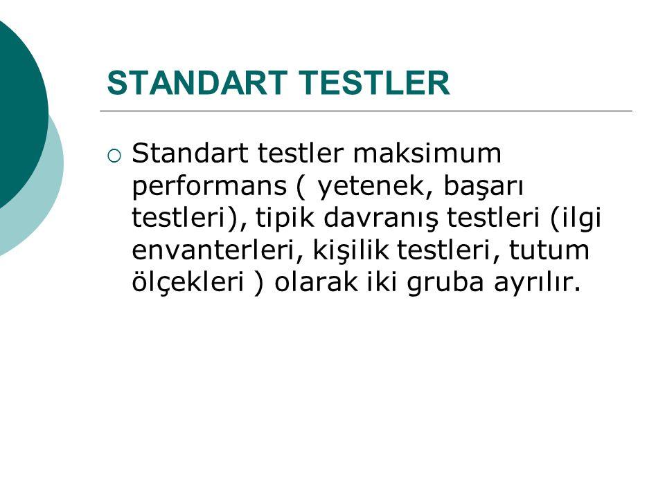 STANDART TESTLER