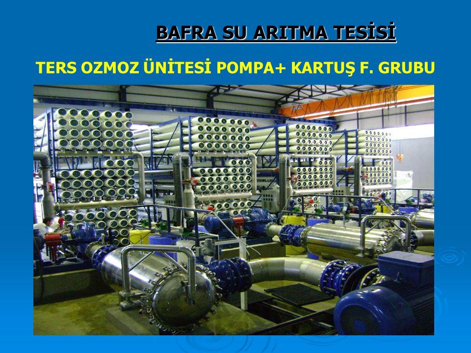 TERS OZMOZ ÜNİTESİ POMPA+ KARTUŞ F. GRUBU