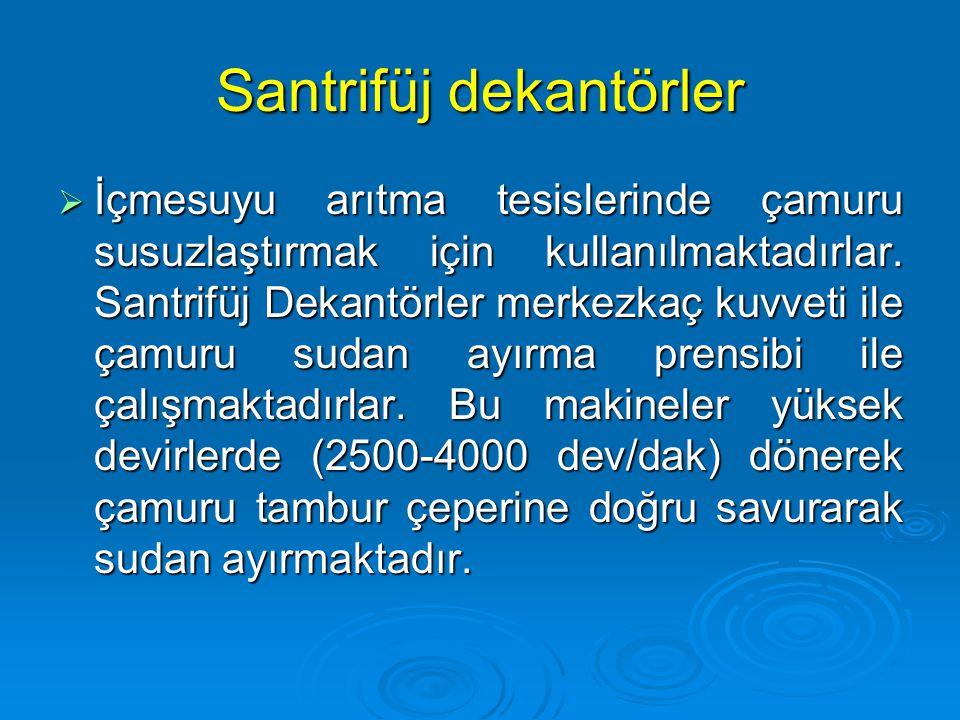 Santrifüj dekantörler