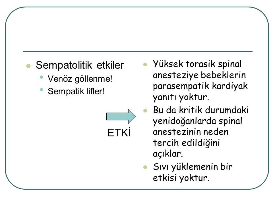 Sempatolitik etkiler ETKİ