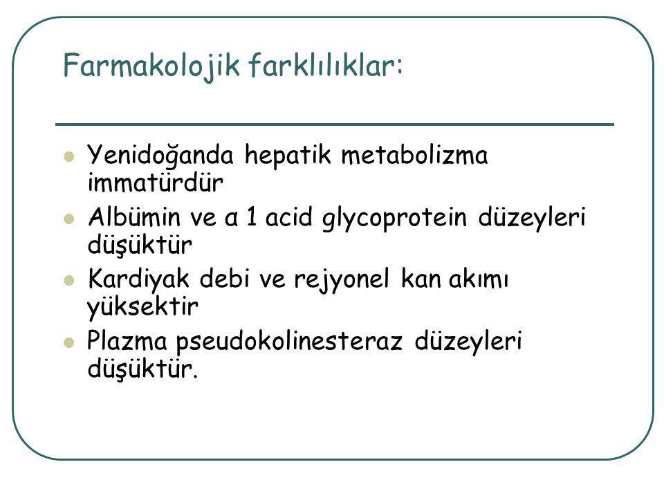 Farmakolojik farklılıklar: