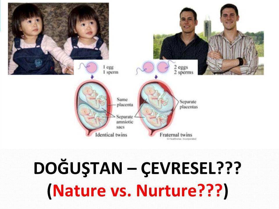 DOĞUŞTAN – ÇEVRESEL (Nature vs. Nurture )