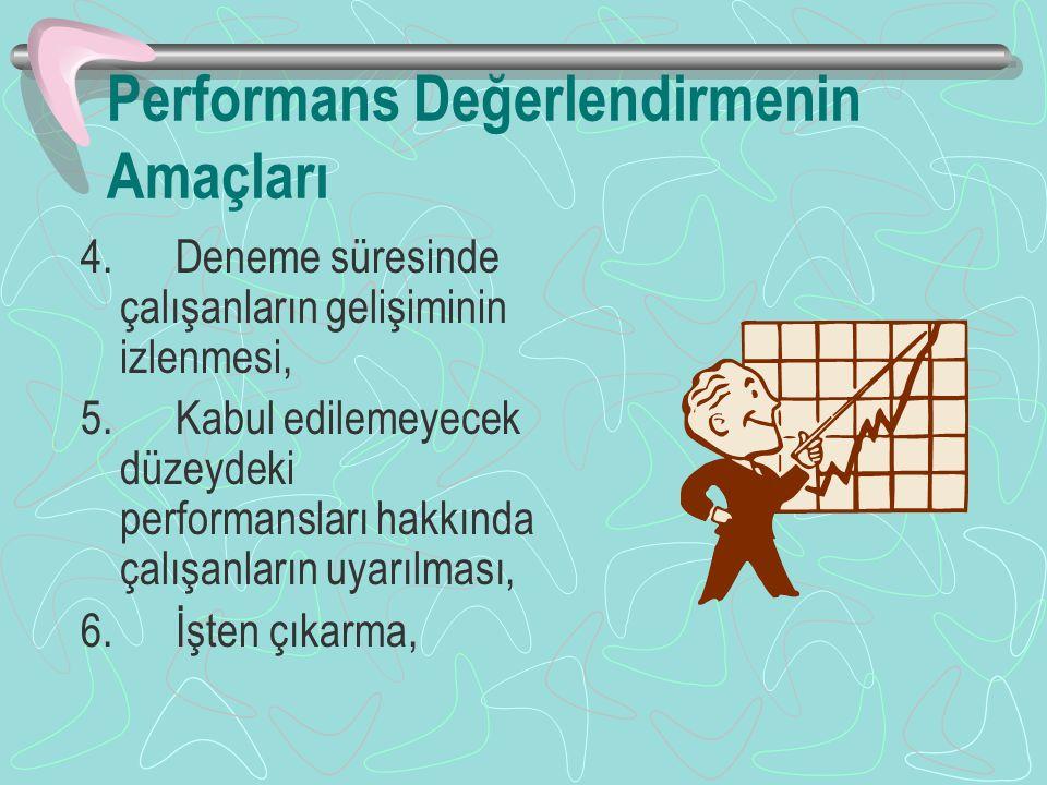 Performans Değerlendirmenin Amaçları
