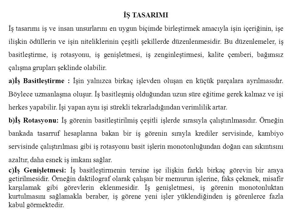 İŞ TASARIMI