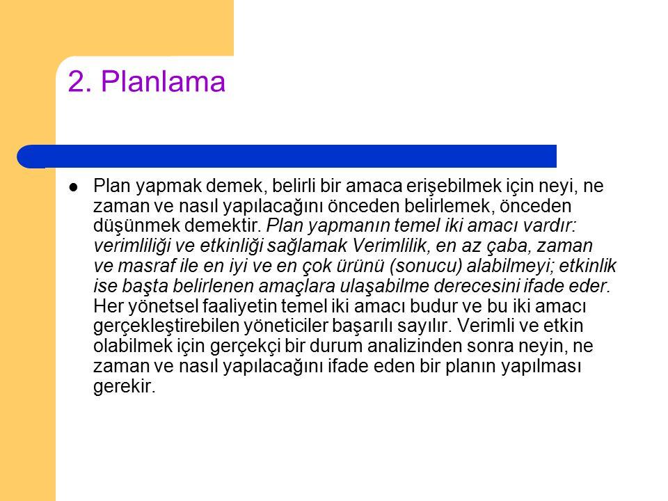 2. Planlama