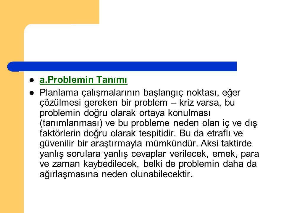 a.Problemin Tanımı