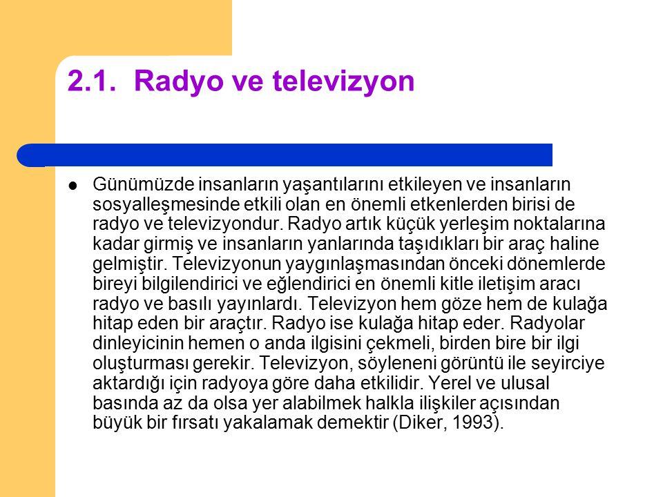 2.1. Radyo ve televizyon