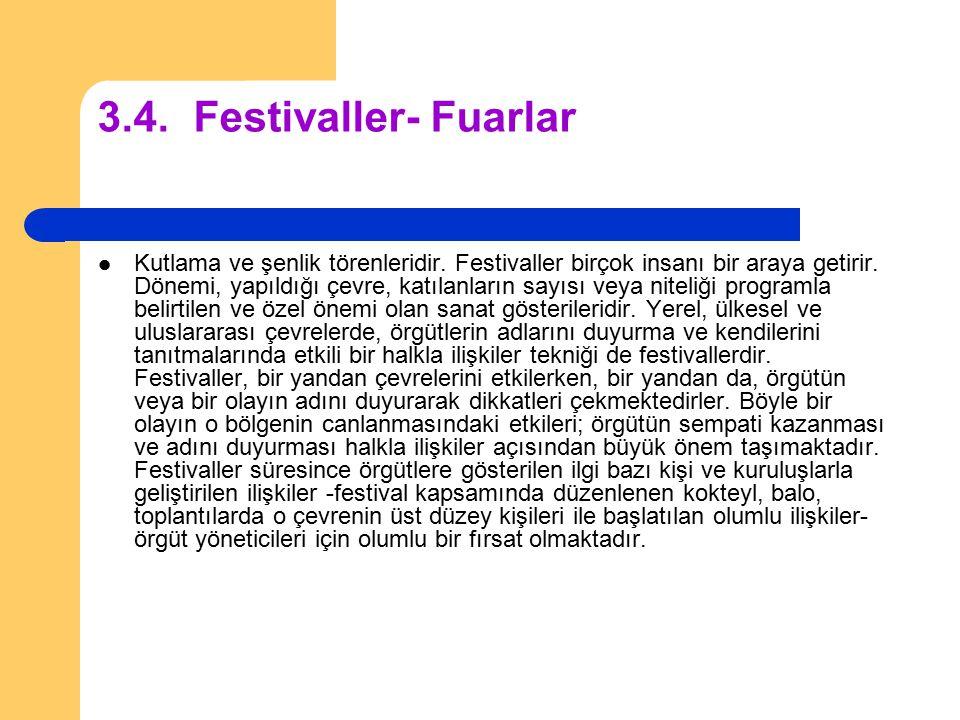 3.4. Festivaller- Fuarlar