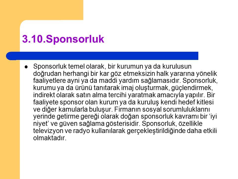 3.10. Sponsorluk