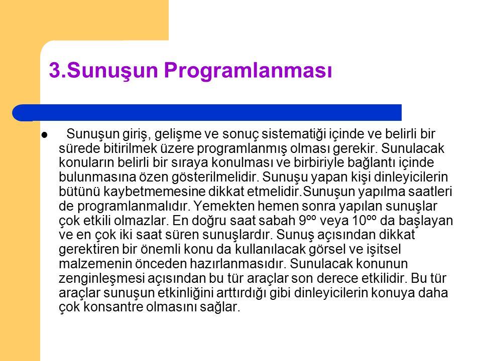 3.Sunuşun Programlanması