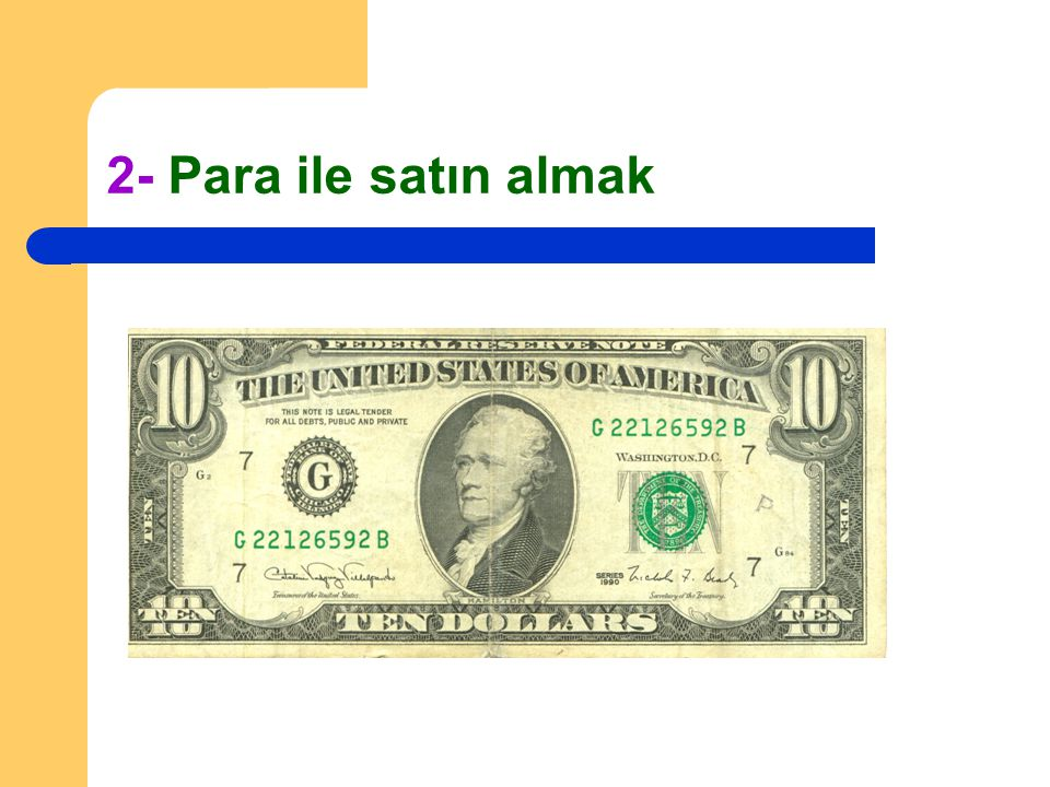 2- Para ile satın almak