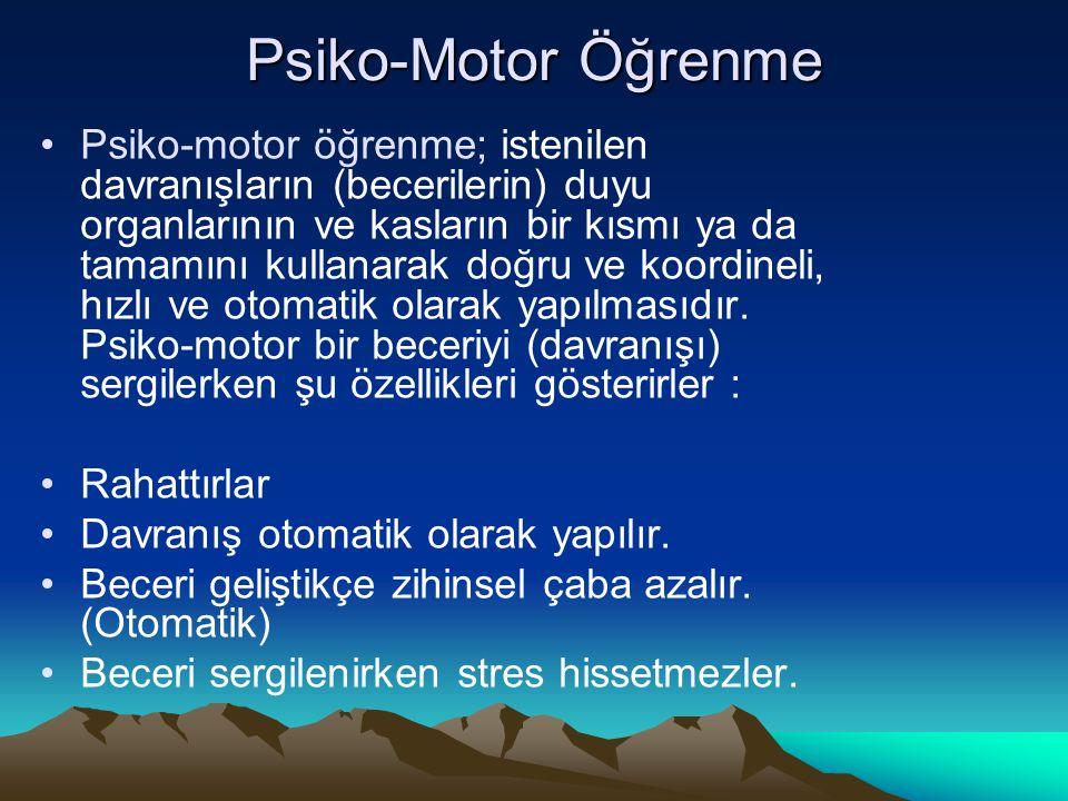 Psiko-Motor Öğrenme