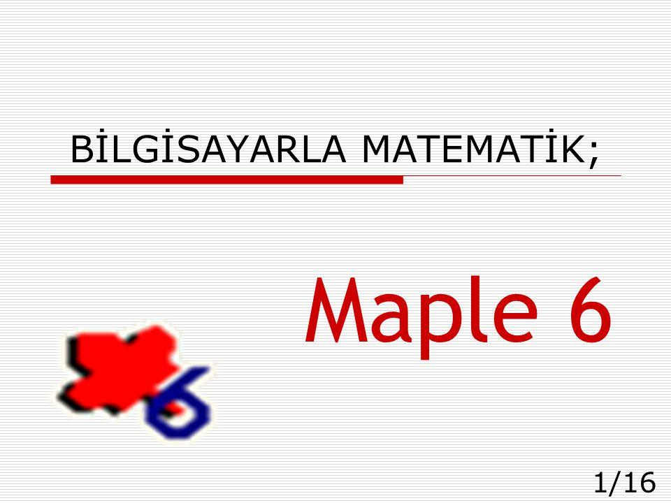 BİLGİSAYARLA MATEMATİK;