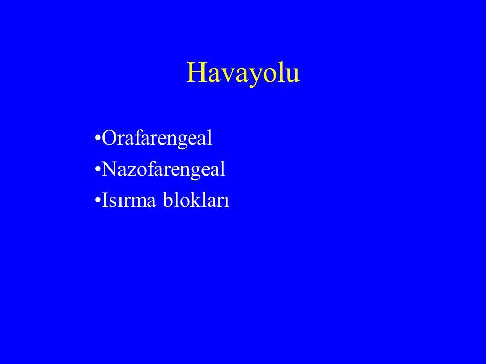 Orafarengeal Nazofarengeal Isırma blokları