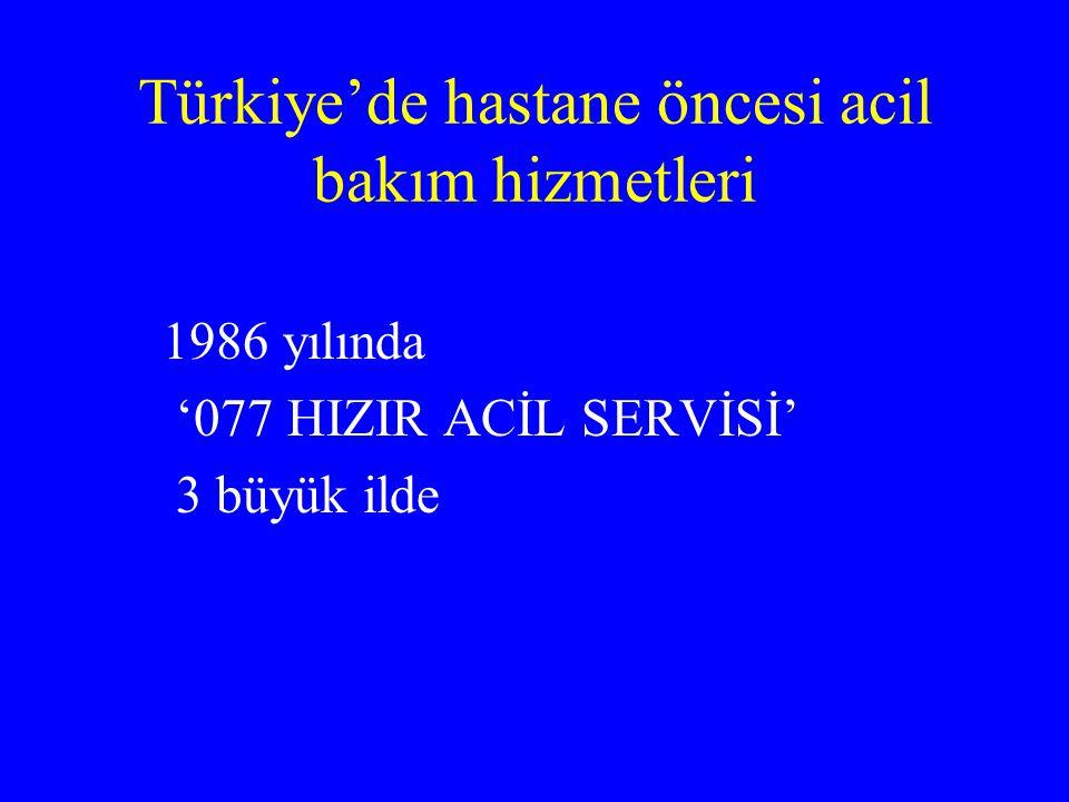 Türkiye'de hastane öncesi acil bakım hizmetleri