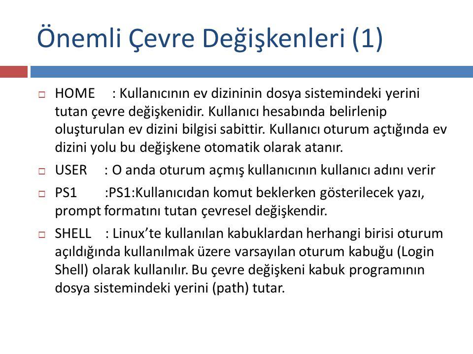 Önemli Çevre Değişkenleri (1)