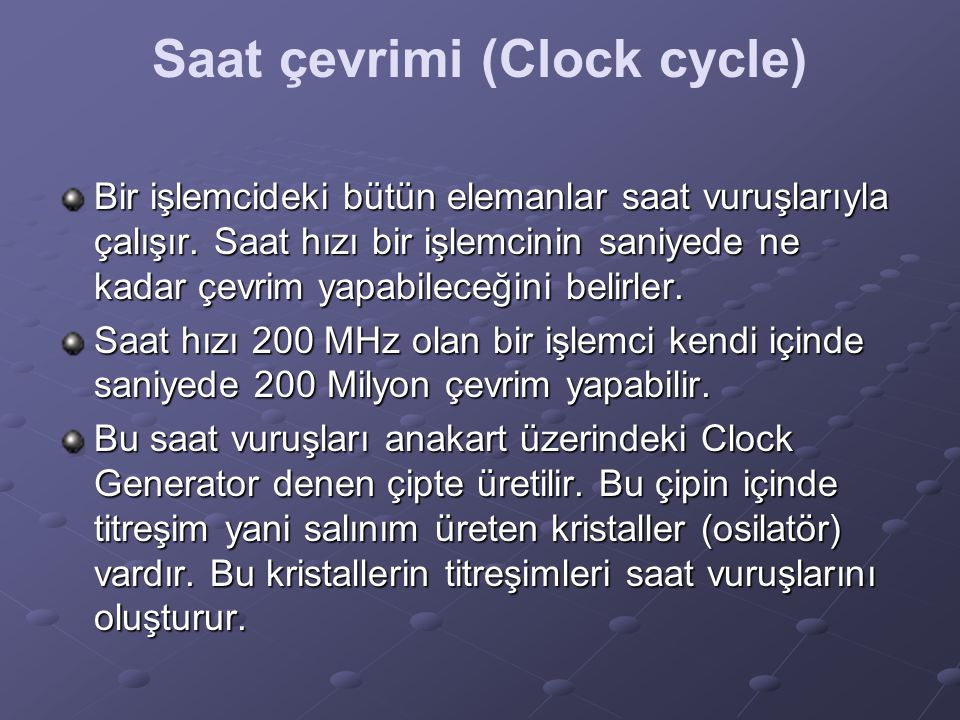Saat çevrimi (Clock cycle)