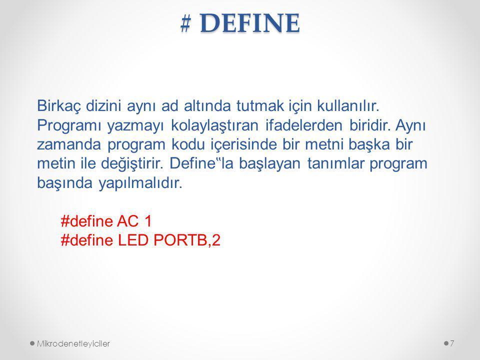 # DEFINE